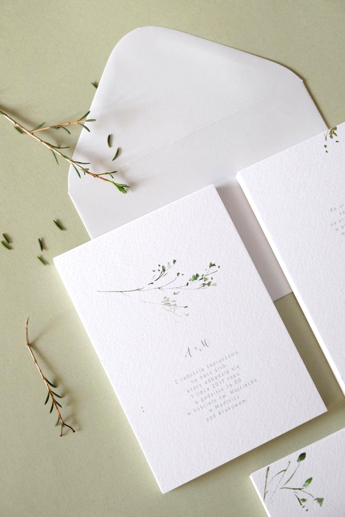 Oryginalne-Zaproszenia-Ślubne-z-Motywem-Zielonej-Gałązki-Herbarium1