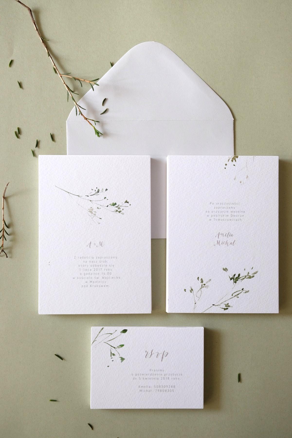 Oryginalne-Zaproszenia-Ślubne-z-Motywem-Zielonej-Gałązki-Herbarium2