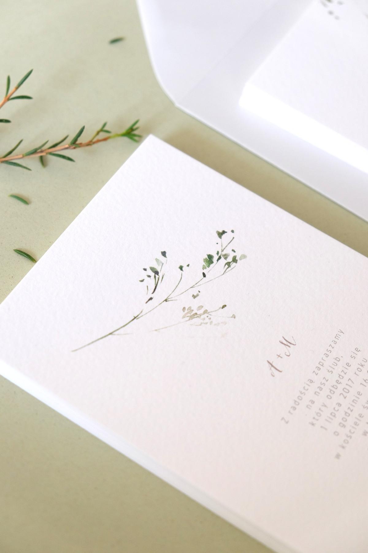 Oryginalne-Zaproszenia-Ślubne-z-Motywem-Zielonej-Gałązki-Herbarium3