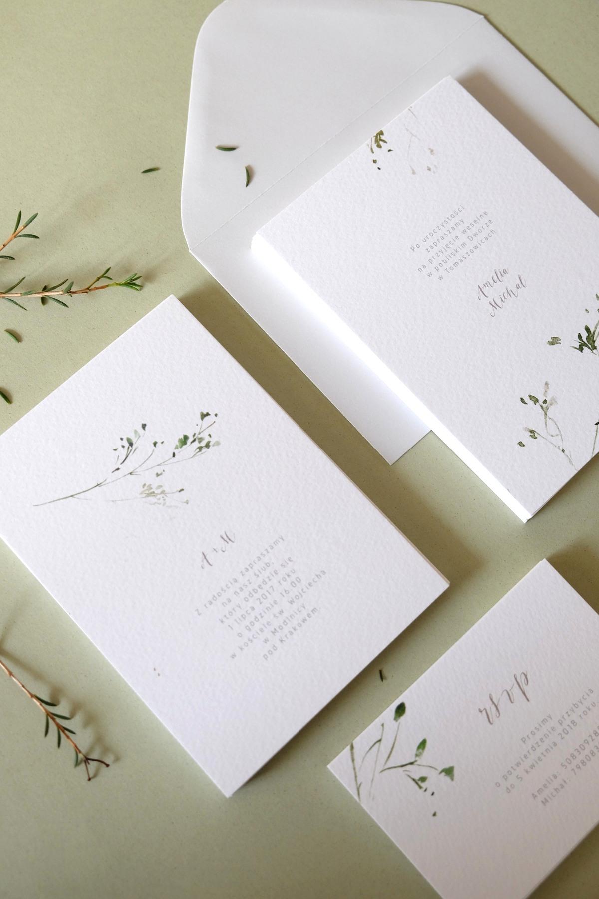 Oryginalne-Zaproszenia-Ślubne-z-Motywem-Zielonej-Gałązki-Herbarium4